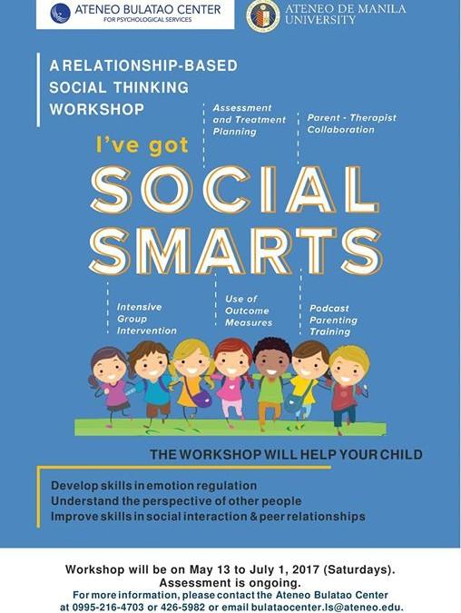 SOCIAL SMARTS WORKSHOP May 2017 Cycle